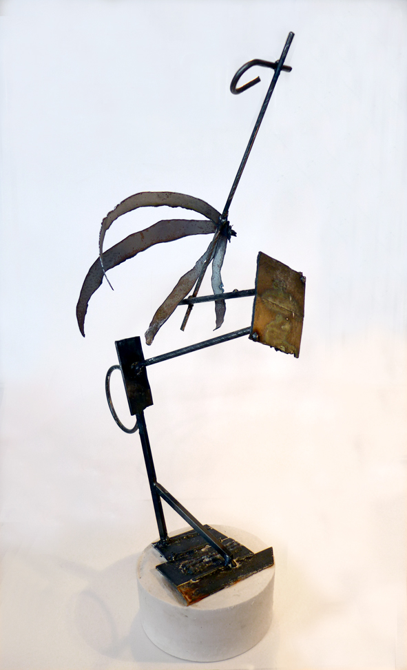 Dark Wader. Sculpture maquette, metal. 2016.